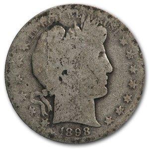 1898 S Barber Half Dollar AG Half Dollar About Good