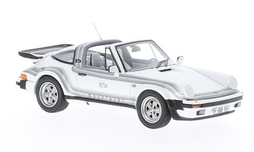 Tuning Turbo Cars (Porsche 911 Turbo Targa B&B Tuning Moonracer, metallic-weiss/Decorated, 1982, Model Car, Ready-made, Neo 1:43)
