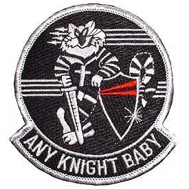 US Navy Fighter Squadron Embroidery Iron on Patch - Tomcat Any Knight Baby Applique