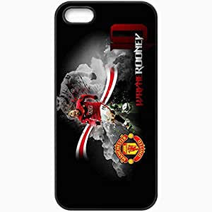 Personalized iPhone 5 5S Cell phone Case/Cover Skin Wayne Rooney The FA Wayne Rooney Manchester United Football Black