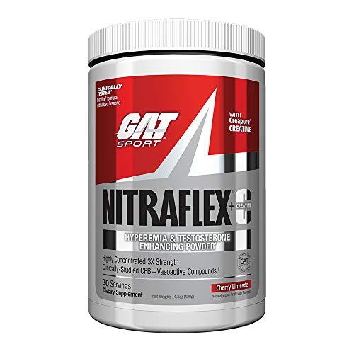 GAT Nitraflex + C Creatine Preworkout Supplement 30 Servings, 14.8 oz (Cherry Limeade) (Pre Workout Supplements Gat)