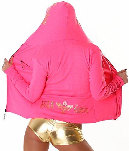 À London Femme Jela Capuche Blouson Pink Et Coulissants Motifs Fuchsia Lettres Pour Avec Dorées qAFWdEpW