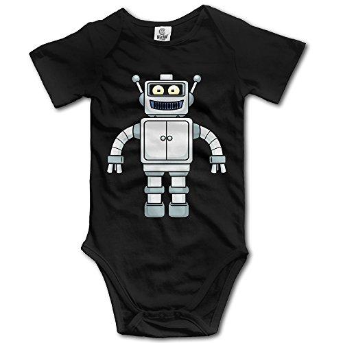 Cartoon Robot Custom Baby Unisex Rompers Cotton