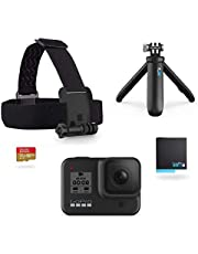 GoPro Pack HERO8 Black - comprend Shorty, bandeau, batterie de rechange et carte mémoire de 32 Go