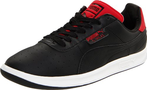 Puma Mens G. Vilas L2 Cuir Classique Sneaker Noir / Ruban Rouge