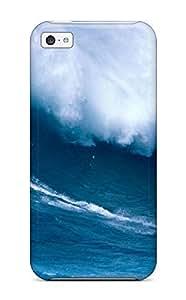 MeSusges Perfect Tpu Case For Iphone 5c/ Anti-scratch Protector Case (big Wave)