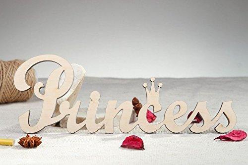 "Handmade Craft Shape Chipboard Word ""Princess"" Art Supply"