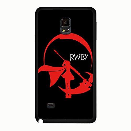 Samsung Galaxy Note 4Case RWBY rot Ruby Symbol schwarz, fester Einband