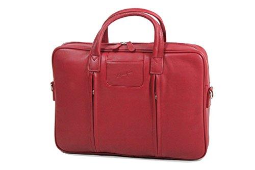 Duragadget-Soporte para ordenador, Gérard Hénon piel de vaqueta lisa GH13202 flexible Rojo - rojo