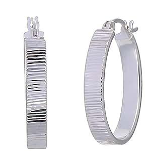 Vir Jewels Sterling Silver Hoop Earrings (3/4 Inch)