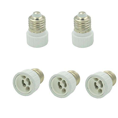 E27 vers GU10 led lumiere Adaptateur douille culot adapte lampe ampoule CONVERTISSEUR Pack de 5