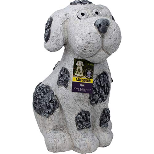 Solar Slate Dog Garden Statue with LED Lights - 14 in. by DPD (Image #1)