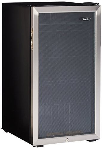 Danby 3.3 Cu. Ft. Beverage Center, 120 Can Capacity, Tempered Glass Door
