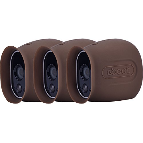 Silicone Skins for Arlo Smart Security Wire-Free Cameras (3 Pack, Dark Brown)