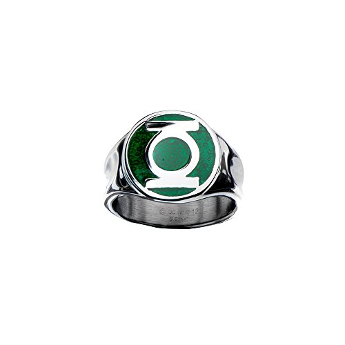 Animewild DC Comics The Green Lantern Logo Ring | 14 -