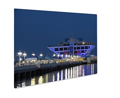 Ashley Giclee Metal Panel Print, Pier In St Petersburg Florida USA, Wall Art Decor, Floating Frame, Ready to Hang 16x20, - In Petersburg Mall Fl St