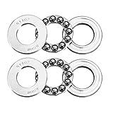 uxcell® 2pcs 51102 Single Direction Thrust Ball Bearings 15mm x 28mm x 9mm Chrome Steel