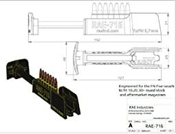 RAE-716 FN Five-seveN Handgun High Speed Magazine Loader. Loads 7 rounds of 5.7x28mm in one push!