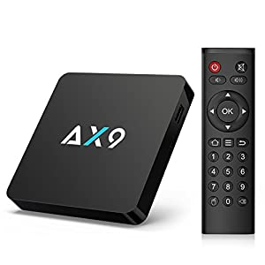 TICTID [1G DDR3/8G EMMC] AX9 Android 7.1 TV Box Amlogic Quad Core A53 Processor 64 Bits Smart TV Box With H.265 HEVC Video Decoder UHD 4k.2k HDMI 2.0 Output 2.4G WIFI Media Player