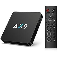 TICTID [1G DDR3/8G EMMC] AX9 Android 7.1 TV Box Amlogic Quad Core A53 Processor 64 Bits Smart TV Box with H.265 HEVC Video Decoder UHD 4k.2k HDMI 2.0 Output 2.4G WIFI Android Box