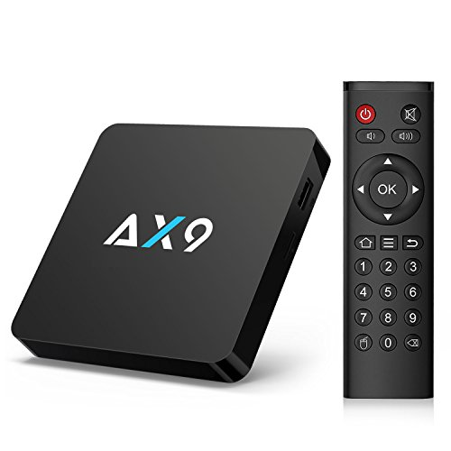 TICTID [1G DDR3/8G EMMC] AX9 Android 7.1 TV Box Amlogic Quad Core A53 Processor 64 Bits Smart TV Box with H.265 HEVC Video Decoder UHD 4k.2k HDMI 2.0 Output 2.4G WIFI Android Box by TICTID