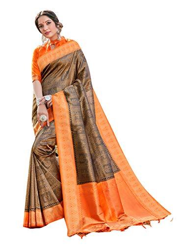 Sarees for Women Banarasi Art Silk Woven Saree ||Traditional Ethnic Indian Wedding Gift Sari with Unstitched Blouse