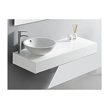 Plan Vasque Salle de Bain Laqué, 120x50 cm, Blanc ou Noir, ARTcolor ...