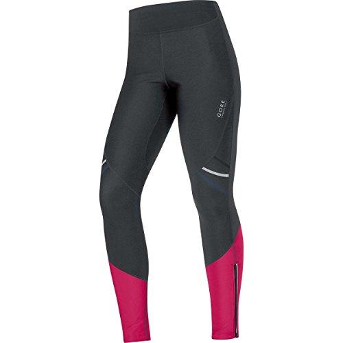 Gore Running Wear 2016 Women's Mythos 2.0 Windstopper Soft Shell Lady Run Tights - TWSMYL (black/jazzy pink - XS)
