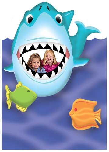 4 ft. 10 in. Giant Shark Mouth Sea Ocean Stand In Standup Photo Booth Prop Background Backdrop Party Decoration Decor Scene Setter Cardboard Cutout ()