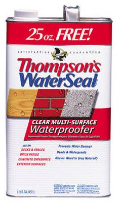 Thompsons Water Seal 24111 1.2-Gallon Clear Low VOC Water Sealer for Exterior Use (Stain Wood Voc Low)