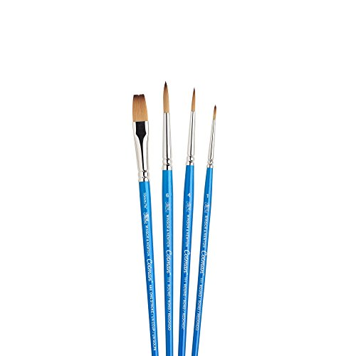 "Winsor & Newton Cotman Short Handle Brush (4 Pack) (Round 1, 4, & 6, One Stroke 3/8"")"