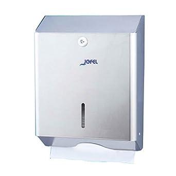 Jofel AH14000 Clásica Dispensador de Toallas de Manos, Zig-Zag, Inox Satinado: Amazon.es: Industria, empresas y ciencia