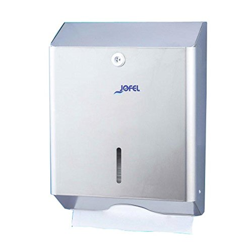 Jofel AH14000 Classic Zig-Zag Hand-Towel Dispenser – Brushed Stainless Steel