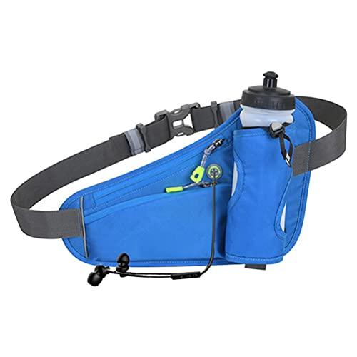 Sahoga Loopriem met waterflessenhouder, outdoor heuppakket, lichtgewicht heuptas, telefoonhouder voor hardlopen…