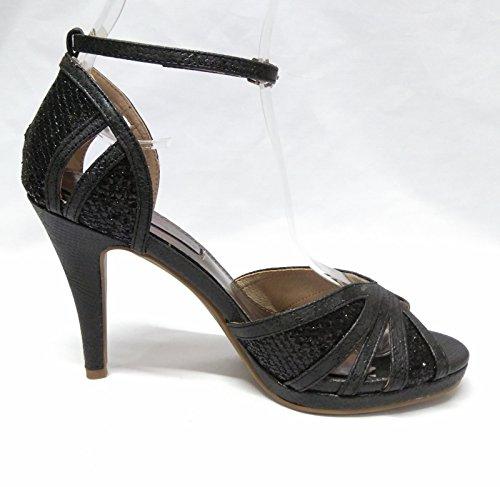 femme 030577 34 pour noir XTI Sandales Noir 8aqw48UT