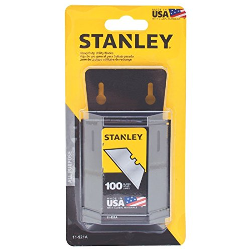 Stanley Hand Tools 11-921A 100 Pack Utility Knife Blades & - Utility Blades Duty Heavy 921