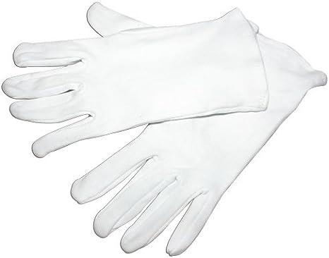 12 hygo Star guanti di cotone bianco bianco Coppie Tessuto m