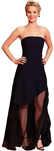 Jennifer Lawrence (Black Dress) Life Size Cutout by Celebrity Cutouts