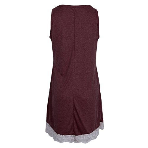 Flojo Casual rojo Vintage Abierta Encaje D 50s DOLITY Playa Vestido vino Encaje Pleno Midi Cóctel V ExnFwqBgAw