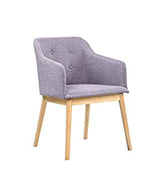 Salesfever Armlehnstuhl Ando Grau Esszimmer Stuhl Mit Stoffbezug