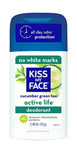 Kiss My Face Active Life Aluminum CHLOROHYDRATE Free Deodorant, Cucumber Green Tea, 2.48 Ounce Stick