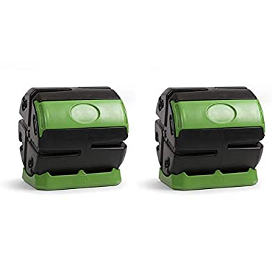 Hot Frog 37 Gallon Chamber Quick Curing Rolling Compost Tumbler Bin (2 Pack)