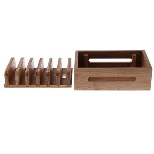 Homyl Bamboo Mobile Phone Holder Mount Station Wooden Desktop Tablet Dock Cradle by Homyl (Image #6)