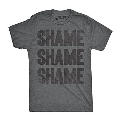 Crazy Dog T-Shirts Mens Shame Shame Shame Funny Democratic Republican Political T Shirt