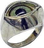 Plain Metal Lime Green Eye Ring -Made in USA