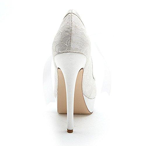 Femmes Bleu Bas Soie L Chaussures forme Fine Vers Le Multi Ouverte Plate Tep Avec Plateforme Svhs couleurs Mariage Taille Des Grande De qvI0vw1