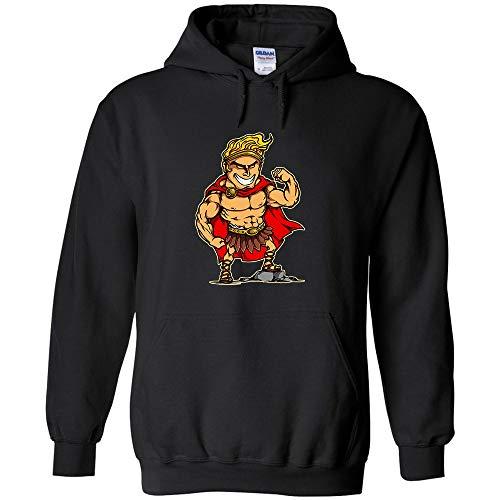 Hercules Cartoon Character Logo Hoodie Art Jumper Pullover Hooded Fleece Sweatshirt Adult Humor Joke Hood