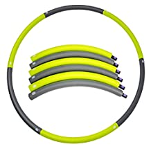 """Portable Hula Hoop 1.5Ib (Dia.35.4"""") Workout Equipment Exercise for Fitness Weight Loss and Perfect Body,6-segmented Foam Padded"""