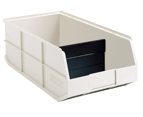 Conductive Stacking Bins - Akro-Mils 30348 1800 Series Plastic Stacking Akro Bin, 20-1/2-Inch Long by 8-1/4-Inch Wide by 7-Inch Deep, Beige, Case of 6