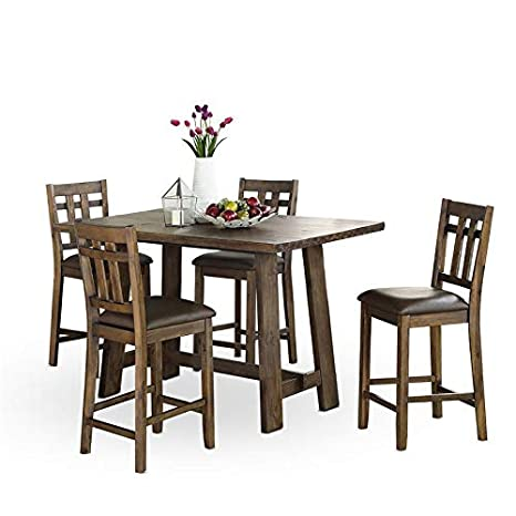 Outstanding Amazon Com Saranac 5 Piece Dining Set Kitchen Dining Caraccident5 Cool Chair Designs And Ideas Caraccident5Info